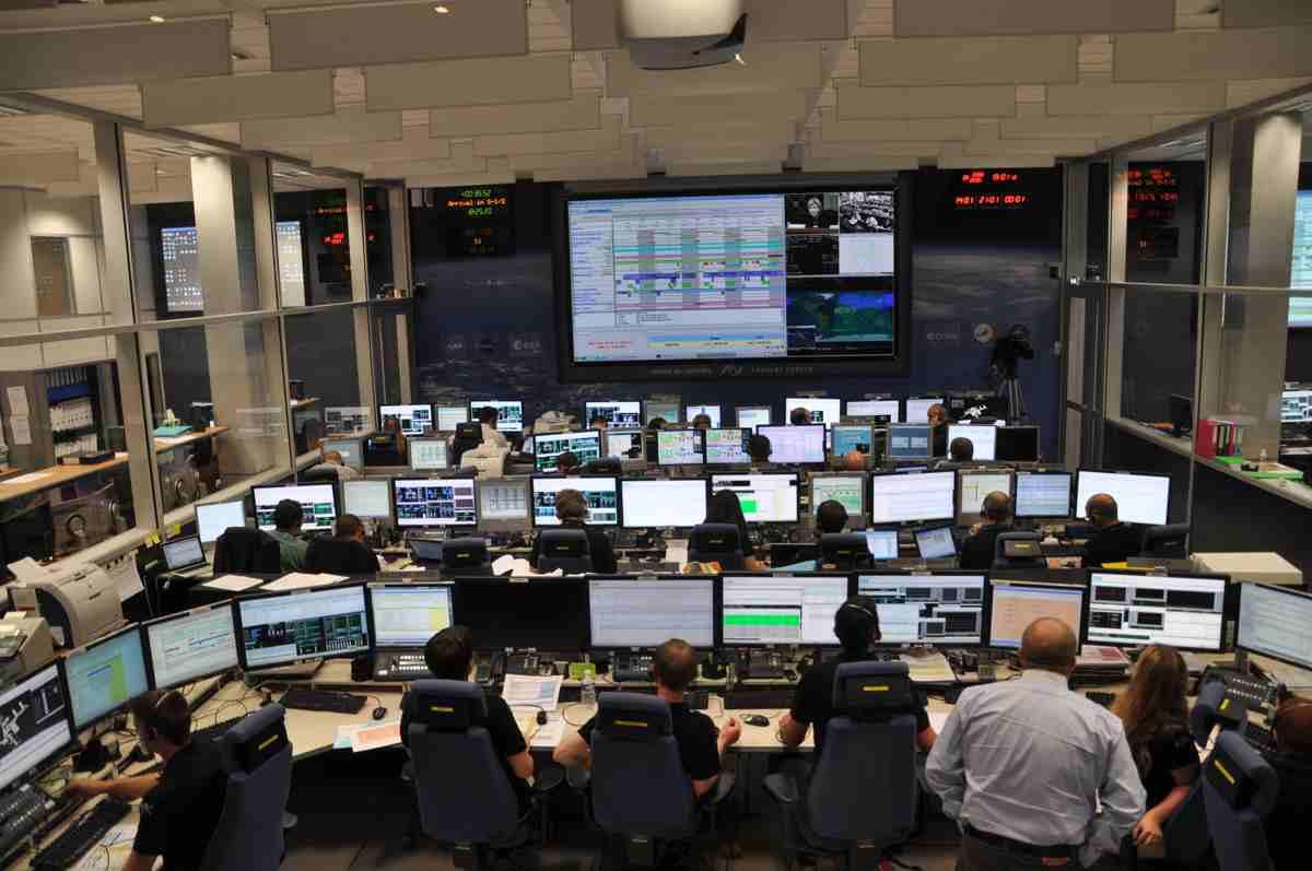 Centrum kontroli ATV w Tuluzie (ATV-CC) na dwie godziny przed cumowaniem / Credits: Jarosław Jaworski