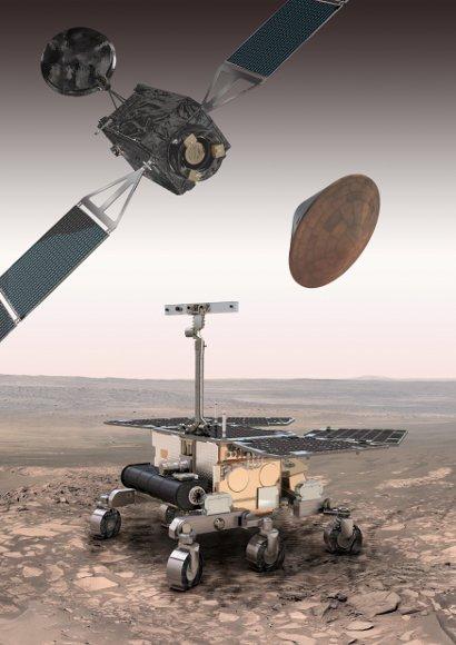 Elementy programu ExoMars (orbiter TGO wraz z demonstratorem lądownika EDM oraz łazik) / Credits: ESA