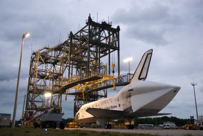 Prom kosmiczny Discovery przed konstrukcją MDD / Credits: NASA/Tim Jacobs