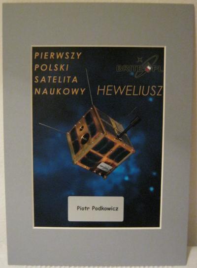 Tablica pamiątkowa Piotra Podkowicza / Credits: Kosmonauta.net