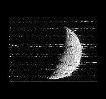 Obraz Księżyca po odbiciu od... Księżyca / Credits - OPTICKS 2012