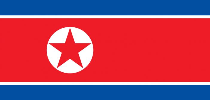 Flaga Korei Północnej / Source: WikiCommons, domena publiczna, autor: Zscout370