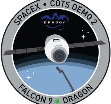 Logo misji Dragon C2+ / Credits - SpaceX