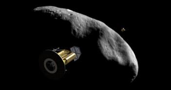 Sondy Arkyd 200 w okolicach małej planetoidy NEO przelatującej blisko Ziemi / Credits - Planetary Resources