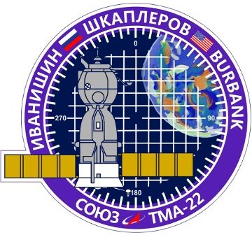 Logo misji Sojuz TMA-22 / Credits - RSA