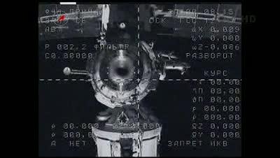 Widok z Sojuza na ISS - chwilę po odłączeniu / Credits - NASA TV