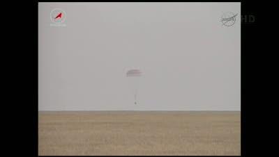 Tuż przed lądowaniem  / Credits - NASA TV
