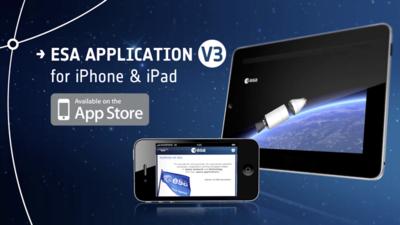 Nowe aplikacje ESA na iPhona i iPoda/Credits: ESA