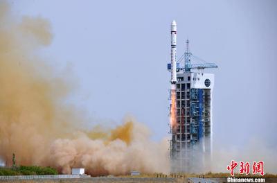 Start CZ-4D z satelitą Tianhui-1B / Credits: Chinanews.com