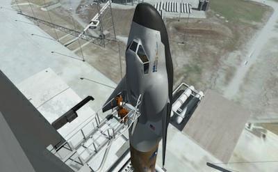 Wizja artystyczna statku Dream Chaser na szczycie rakiety Atlas V / Credits: SNC