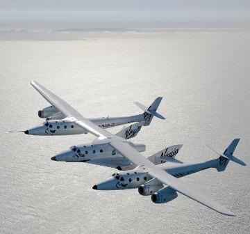Samolot WhiteKnightTwo wynosić będzie również statek SpaceShipTwo / Credits: Virgin Galactic