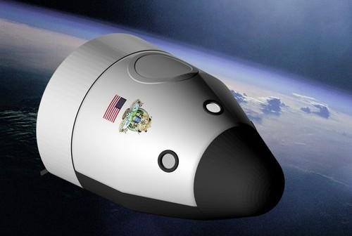 Grafika projektowanej kapsuły Space Vehicle (SV) firmy Blue Origin / Źródło: Blue Origin