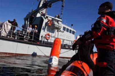 Okręt kontrolny misji podczas akcji ratowniczej statku Tycho Brahe / Credits: CS, Bo Tornvig