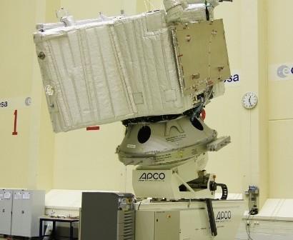 MPO na stanowisku pomiarowym M80/MPMA w ESTEC, 11 maja 2012 roku / Credits: ESA-Guido Kosters