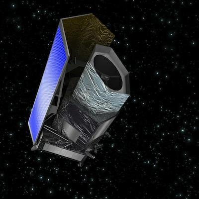 Wizja artystyczna obserwatorium EUCLID / Credits: ESA