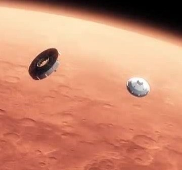 MSL wchodzi w atmosferę / Credits - NASA, JPL, Caltech
