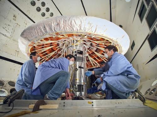 Testy osłony termicznej IRVE-3 poprzedzające start. (Credits: NASA)