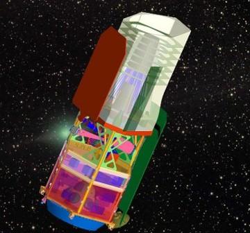 Grafika prezentująca proponowany teleskop WFIRST / Credits - NASA