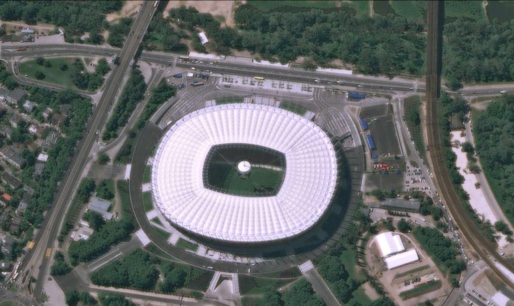 Stadion Narodowy w Warszawie sfotografowany przez Pleiades-1 w dniu 22 maja 2012 roku / Credits: CNES