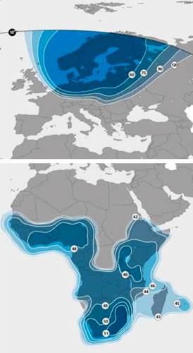W paśmie Ku SES 5 będzie dostarczać usługi na obszar północnej Europy oraz Afryki Subsaharyjskiej / Credits: SES Satellite