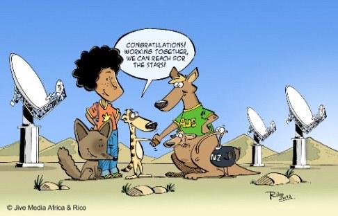 Afryka, Australia i Nowa Zelandia będą gościć radioteleskop SKA/ Credits: SKA