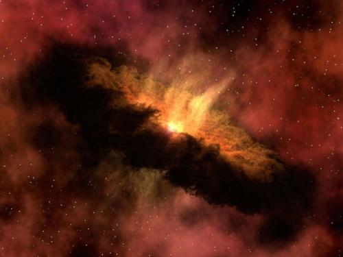 Zawartość wody w mgławicach umożliwia powstawanie złożonych cząstek organicznych. Dodając do tego promieniowanie UV gwiazd i wysokie temperatury znacznie zwiększamy prawdopodobieństwo powstania molekuł budujących organizmy żywe. (Credits: NASA/JPL-Caltech)