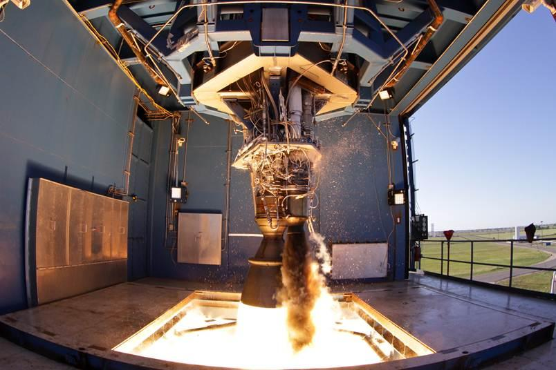 Testowe odpalenie silnika Merlin 1D / Credtis: SpaceX