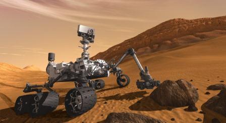 Artystyczna wizja łazika MSL na powierzchni Marsa / Credits - NASA, JPL