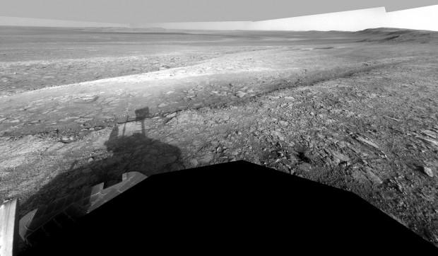 Zdjęcie Whim Creek wykonane przez Opportunity / Credits: NASA-JPL-Michael Howard