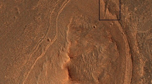 Whim Creek - część Cape York - zaznaczony czarną ramką / Credits: NASA-JPL