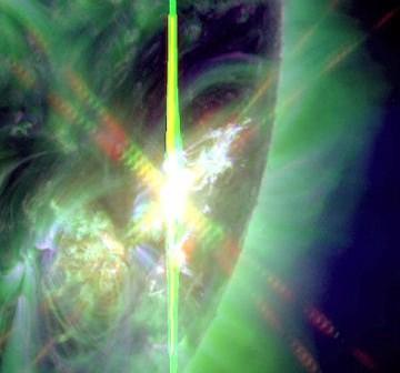 Rozbłysk klasy X1.1 z dnia 7 lipca 2012 / Credits - NASA, SDO