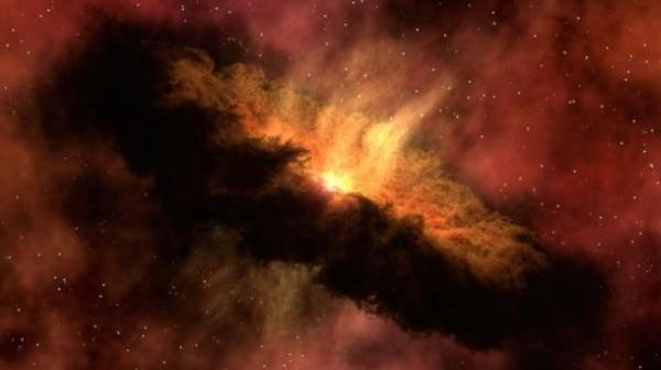 Artystyczna wizja formującego planety pyłowego dysku, podobnego do tego który zniknął z okolic gwiazdy TYC 8241 2652 / Credits: NASA/JPL-Caltech
