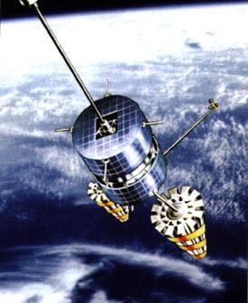 Satelity Goniec i Kosmos 2481 zbudowane są na bazie platformy Streila-3 / Credits: Roskosmos