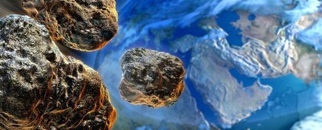Fragmenty asteroidy zbliżające się do Ziemi - wizualizacja komputerowa / Credits: Thinkstockphotos