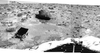 Różne skały w regionie miejsca lądowania / Credits - NASA