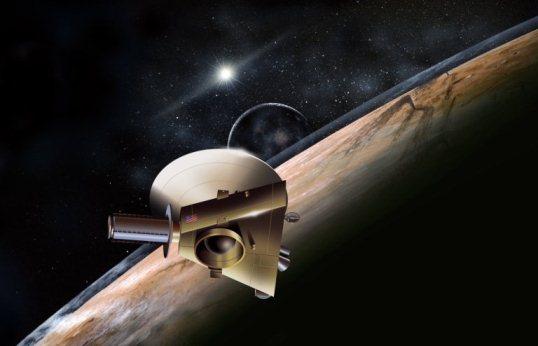 Sonda New Horizons w pobliżu Plutona. Artystyczna wizja/ Credits: NASA
