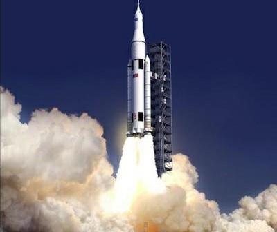 Wizja artystyczna SLS / Credits: NASA