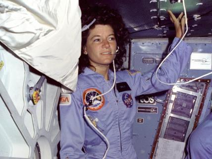 Astronautka na pokładzie Challengera /Credits: NASA