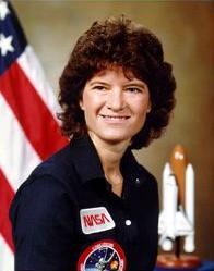 Sally Ride w 1984/ Credits: NASA