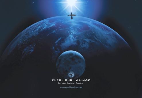 Poster reklamowy firmy EA / Źródło: Excalibur Almaz Ltd.