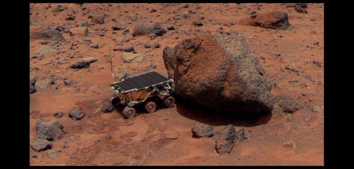 Łazik Sojourner na powierzchni Marsa / Credits - MSSS, NASA