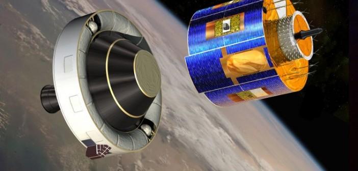 MSG-3 odłącza się od ostatniego członu rakiety nośnej - wizualizacja / Credits: ESA