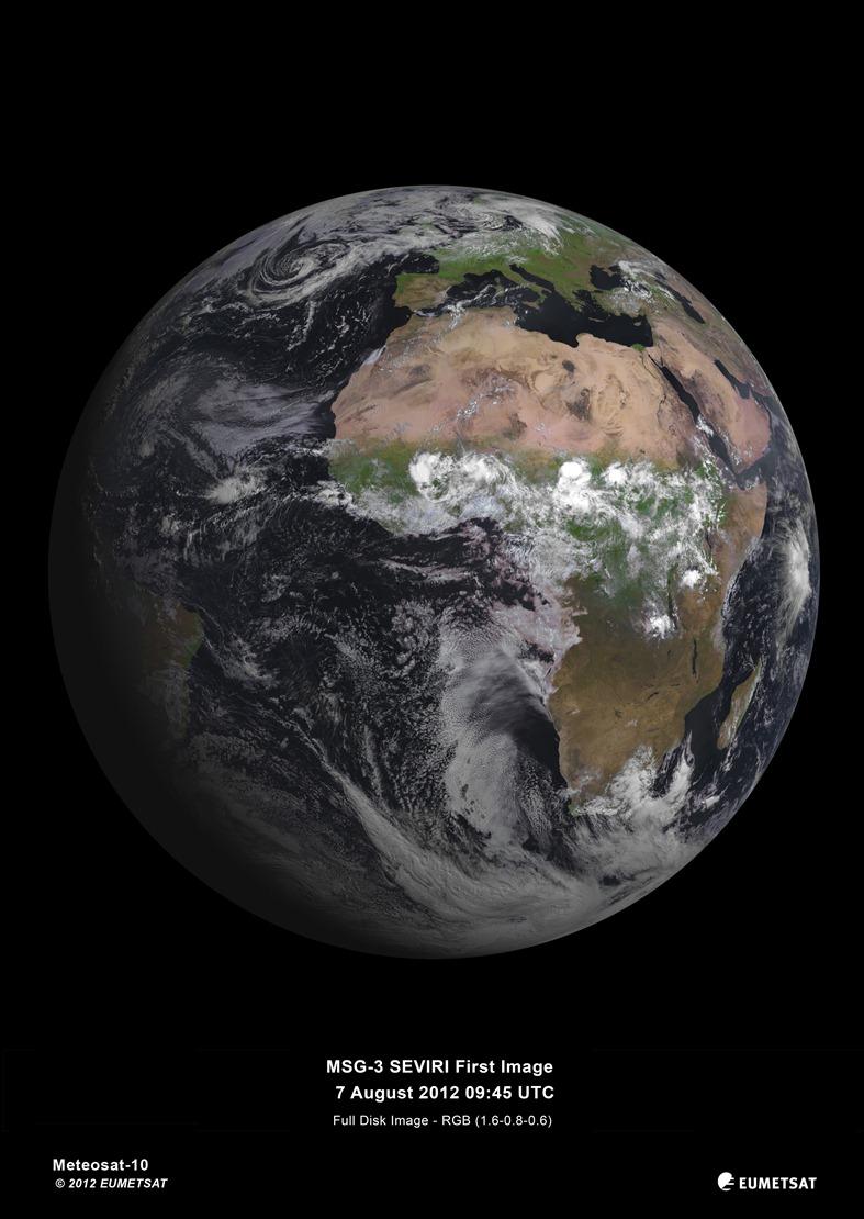Ziemia sfotografowana przez MSG-3 / Credits: EUMETSAT