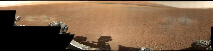 Panorama miejsca lądowania - Sol 3 misji MSL / Credits - NASA, JPL
