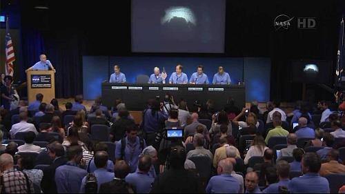 Zespół misji MSL rozpoczyna konferencję naukową dotyczącą przebiegu lądowania (NASA TV)