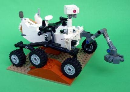 Zbudowany z klocków Lego pojazd Curiosity (Stephen Pakbaz)