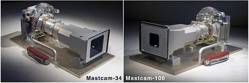 Kamery Mastcam zainstalowane na maszcie obserwacyjnym łazika (NASA/JPL/Malin Space Science Systems)