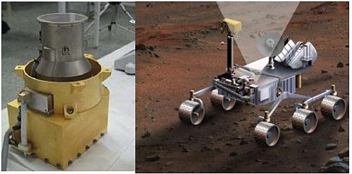 Instrument RAD, mierzący intensywność promieniowania występującego na powierzchni Marsa (JPL/NASA)