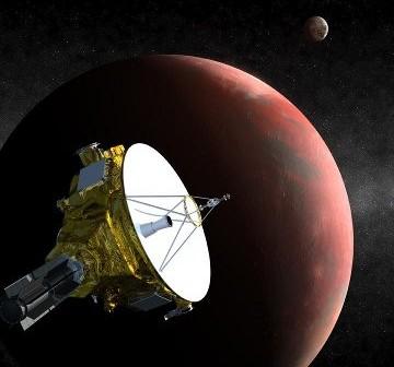 Wizja sondy New Horizons przelatującej obok Plutona / Credits - NASA, JPL
