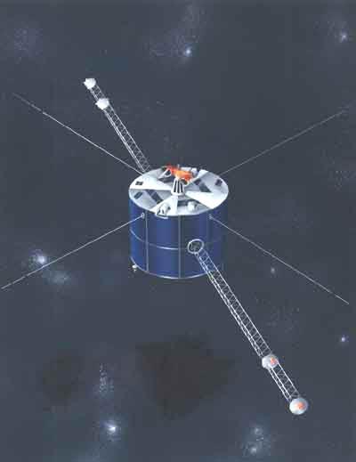Geotail na orbicie - wizja artystyczna / Credits: NASA